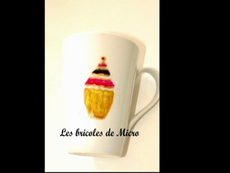 Tuto Peinture Sur Porcelaine lbdm : décorer une tasse avec de la peinture pour porcelaine (en faisant  son propre pochoir)