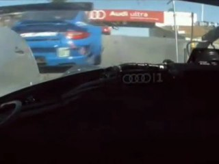 ALMS, Road Atlanta 2011 - Audi in traffic Onboard
