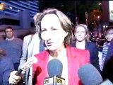 Arrivée de Ségolène Royal au débat de la primaire
