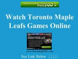 Watch Maple Leafs Game Online | Toronto Maple Leafs Game Live Streaming