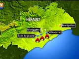 150 hectares de garrigue brûlés dans l'Hérault