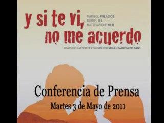 """Conferencia de prensa de la película peruana """"Y si te vi, no me acuerdo"""""""