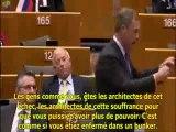 Nigel Farage clash Mr barraso au parlement européen et propose une nouvelle idee pour augmenter le Fonds Européen de Solidarité Financière - octobre 2011