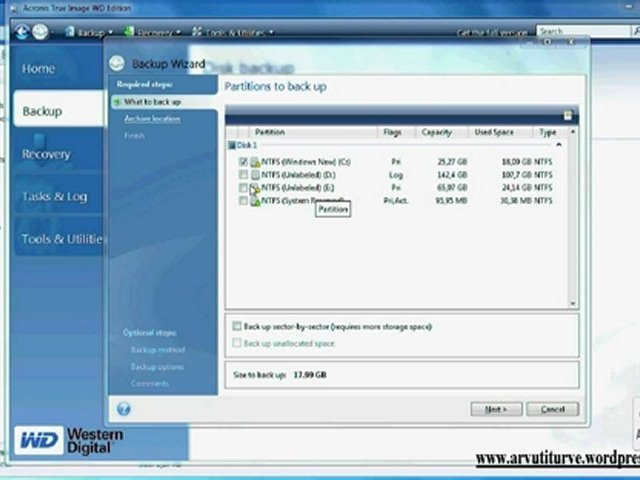 Acronis True Image Freeware WD edition for Windows 7, Vista and XP
