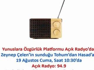 Yunuslara Özgürlük Açık Radyo Yayını.