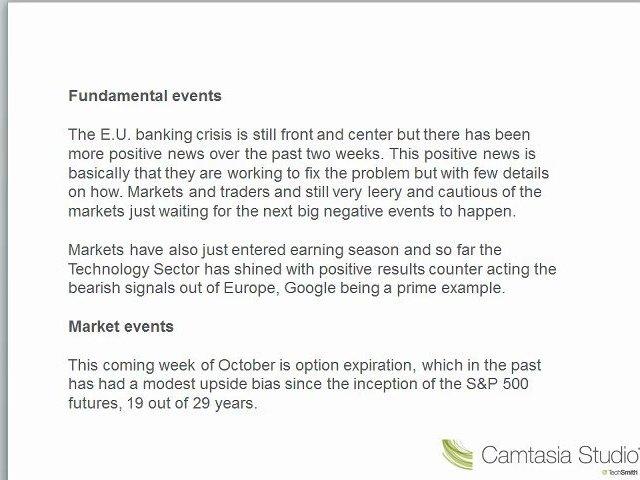 Inside Trading Room – Next Week's Market Direction