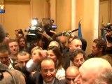 La victoire célébrée au QG de François Hollande