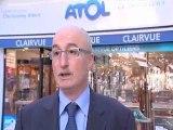 """Christophe ALBERT - Opticien à Nevers et Président de l'association """"Les vitrines de Nevers"""""""