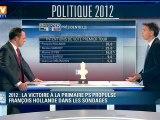 2012 : la victoire à la primaire PS propulse François Hollande dans les sondages