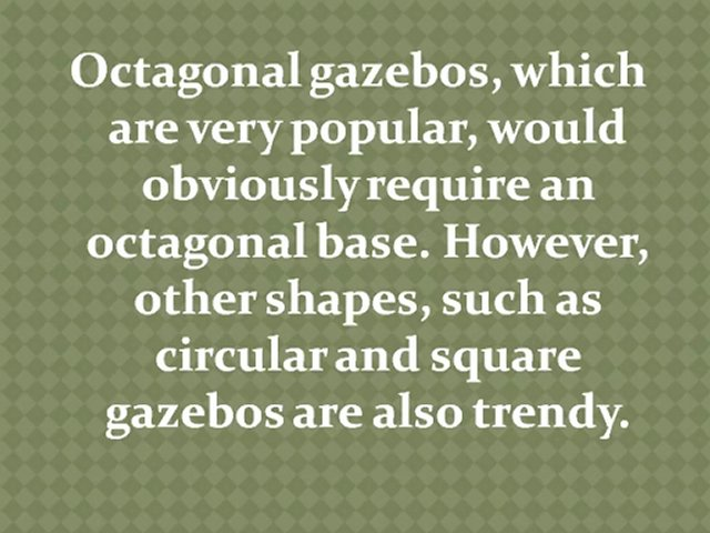Base Requirements for Gazebos and Pergolas