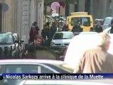 19 octobre : le Président est passé à la clinique de la Muette où est prévu l'accouchement de son épouse Carla Bruni-Sarkozy