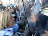 Grèce : heurts lors de la manifestation anti-austérité