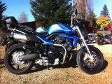 Départ dernier jour des 10 ans du Voxan Club de France moto octobre 2011 63