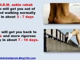 how to treat an ankle sprain - how to sprain your ankle easily - ankle sprain rehabilitation