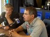 Jacques Fournier et Jean-Christophe Caso, invités de France Bleu pour la transat Jacques Vabre 2011.
