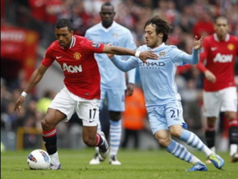 Manchester United 1-6 Manchester City Balotelli, Dzeko double, Evans sent-off