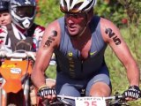 Lance Armstrong Competes in a Triathlon