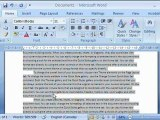 How to Best Use Paragraph Formatting in Microsoft Word 2007