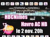 Nîmes - Le Havre 8ème journée Championnat de France Handball Féminin LFH