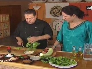 Cuisine marocaine date aid adha 2011 chhiwat choumicha tajine aux pruneaux, salade césar, pain d'épices Chhiwat bladi Tahanaout