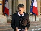 Nicolas Sarkozy réagit au référendum en Grèce