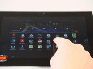 Tablette Sony S - Prise en main