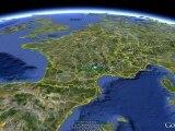 Endurance Trail des Templiers 2011 : Profil et Parcours 3D (Festival des Templiers à Millau)