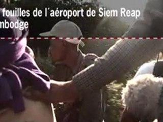 Les fouilles de l'aéroport de Siem Reap,Cambodge