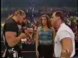 Triple H, Stephanie McMahon, Kurt Angle, and Mick Foley segment Part 1_(360p)