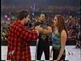 Triple H, Stephanie McMahon, Kurt Angle, and Mick Foley segment Part 2_(360p)