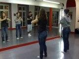 """Entrainement 1 pour la Flash mob sur la musique """"des ricochets"""" pour l'UNICEF (Jeunes Ambassadeurs du Puy en Velay)"""