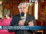 """2012 : Chevènement veut """"marquer des repères"""""""