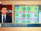Italie : les marchés attendent impatiemment la démission de Silvio Berlusconi