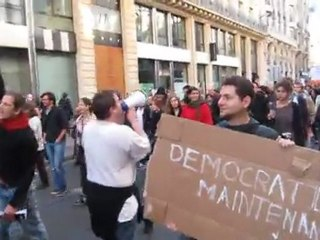 Occupy France, and Indignants, Demonstrating against Corporate greed, La Bourse, Paris, MVI_4768