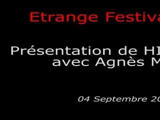 Étrange Festival - HIDEAWAYS - Présentation du film par Agnès Merlet