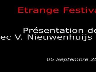 Étrange Festival - MEAT - Présentation du film par Victor Nieuwenhuijs et Maartje Seyferth