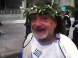 Athens Classic Marathon: Greek wearing traditional cloth gives us his wish