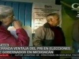PRI encabeza resultados de elecciones en Michoacán