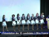 Les 33 Miss France 2012 réunies à Paris