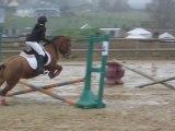 Jeanne et Flocon en concours d'Equifun à La Bonde 11-11-11