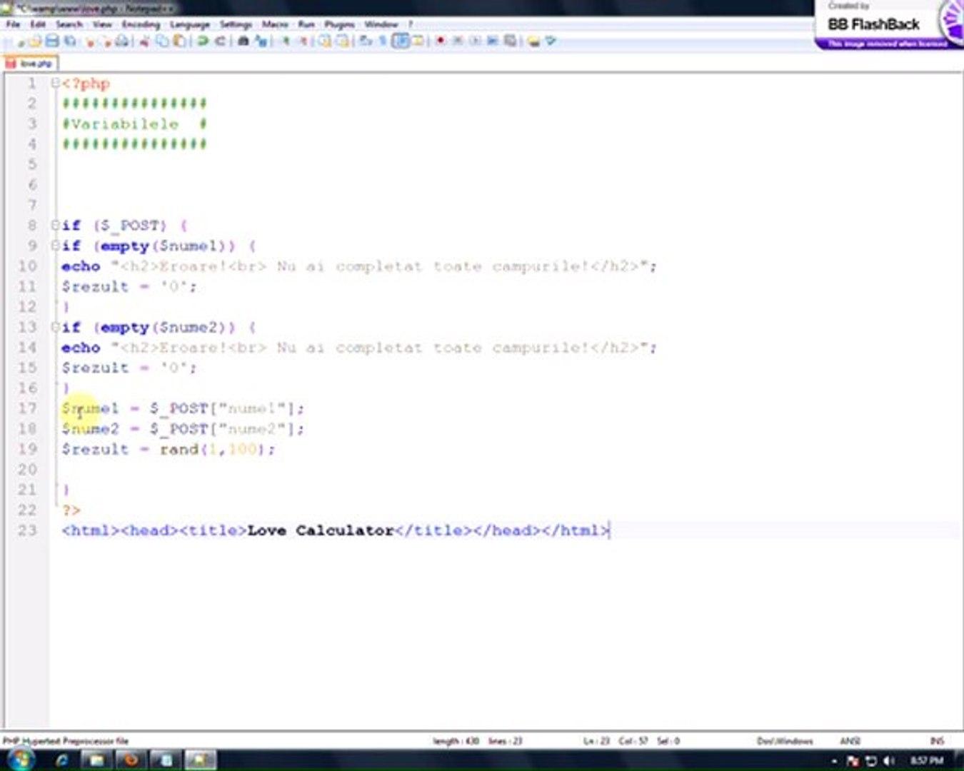 SUSiNAER.RO - Tutorial PHP Script Love Calculator