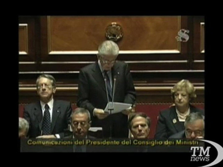 Monti in Senato: esenzione Ici prima casa è anomalia - VideoDoc. In sistema pensionistico troppe dis