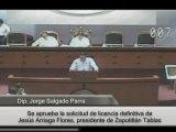 Intervención del Dip. Jorge Salgado Parra para fundamentar licencia definitiva del presidente de Zapotitlán