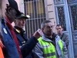 Jeudi 17/11/11 la grève des facteurs de la poste de Millau.