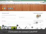 Tutoriel vidéo CakePHP : Formulaire de contact