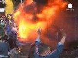 Tahrir Meydanı'nda göstericiler polisle çatıştı