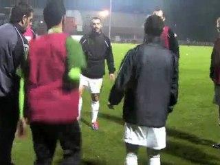 Echauffement des Fenisiens coupe de France contre St Quentin