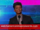 Bruno Mars intruduces Christina Aguilera AMA 2011
