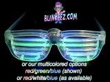 ROCKSTAR Flashing LED Shutter Shade Sunglasses B Kanye West!
