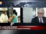 "Danielle Mitterrand ""combattante"", selon Dumas"
